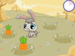 小兔子吃萝卜游戏_